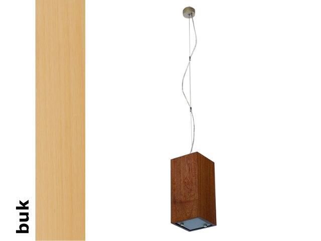 Lampa sufitowa TUBA mała buk 1203W1M202 Cleoni
