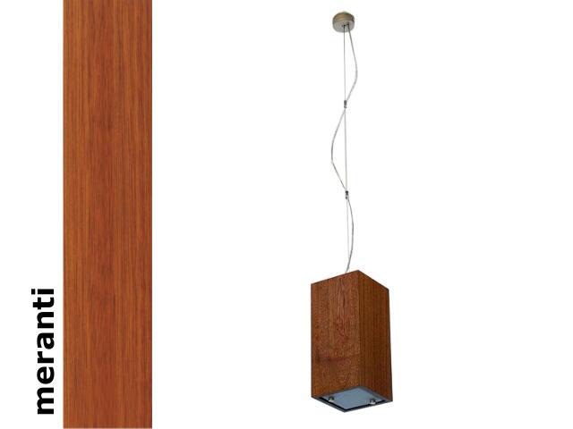 Lampa sufitowa TUBA mała meranti 1203W1M203 Cleoni
