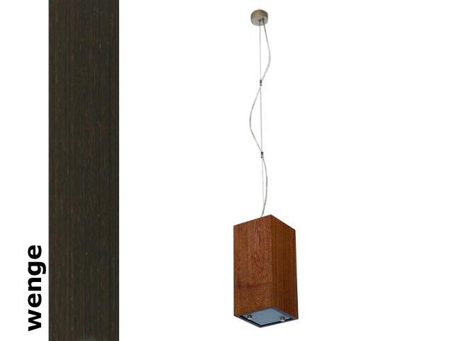 Lampa sufitowa TUBA mała wenge 1203W1M204 Cleoni