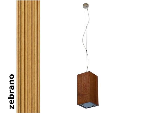 Lampa sufitowa TUBA mała zebrano 1203W1M205 Cleoni