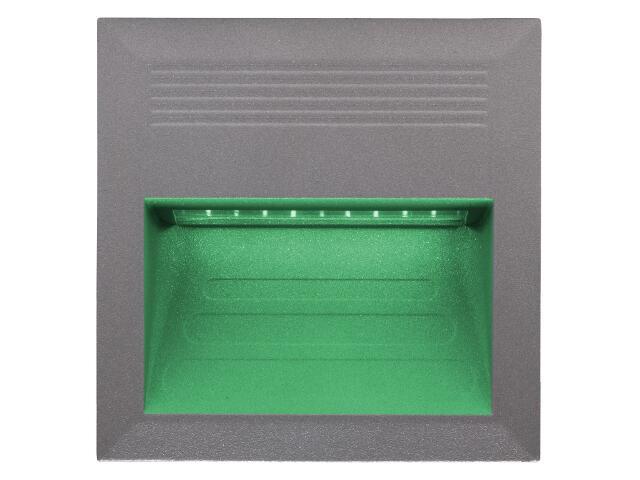 Oprawa punktowa schodowa BILEO LED C kolor światła zielony Lena Lighting