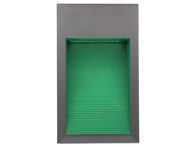 Oprawa punktowa schodowa BILEO LED D kolor światła zielony Lena Lighting