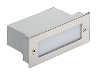 Oprawa punktowa schodowa DECOSQUARE 2 STAL LED akcentująca Sanneli Design