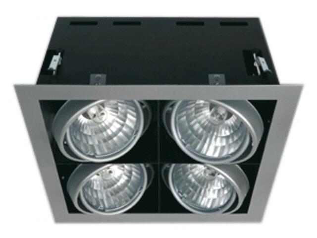 Lampa sufitowa LAVIO S4 srebrna Brilum