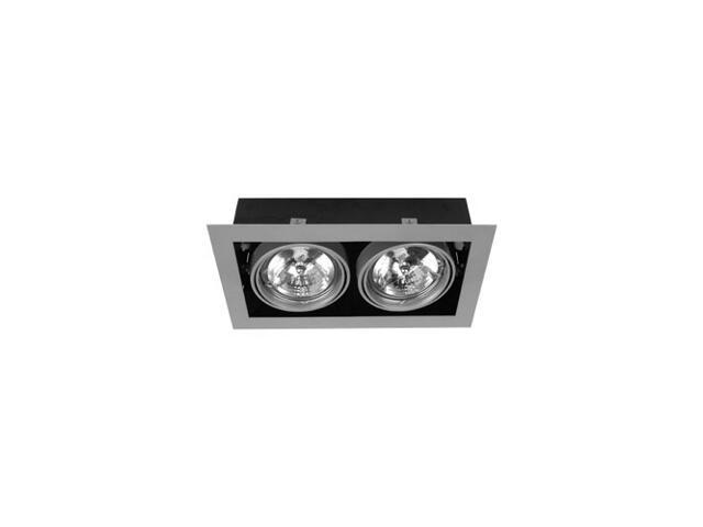 Lampa sufitowa EQUAN 21K 2x50W biała bez źródeł światła Elgo