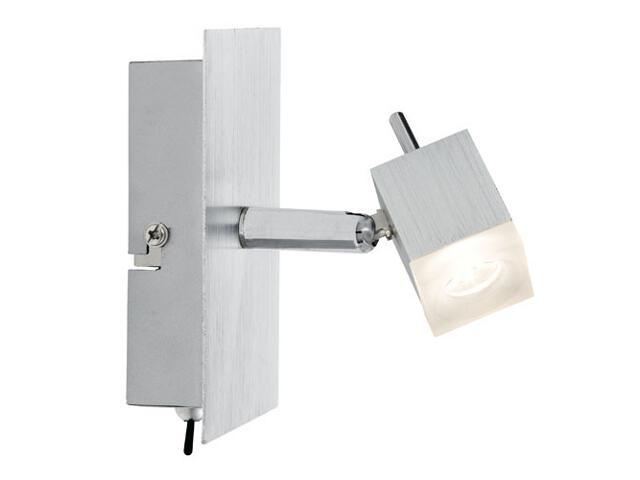 Kinkiet QuadLed 1x3W alu 230V/12V metal / szkło Paulmann