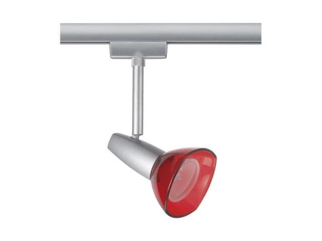 Spot URail Barelli do szyn 50W GZ10 230V tytan, czerwony Paulmann