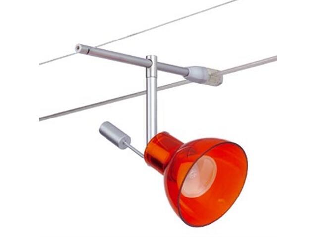 Spot HighWire Zaretti Duo 50W GZ10 chrom, pomarańczowy Paulmann