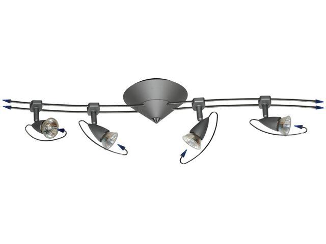 Lampa sufitowa 4x20W GU5,3 żelazo satyna Paulmann