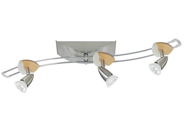 System prętowy Cannes Sinus 3x35W 105VA GU5,3 nikiel drewno Paulmann