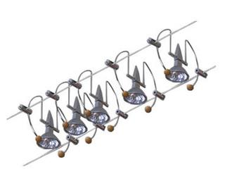 System linkowy Bogen 105 chrom aluminium 5x20W Paulmann