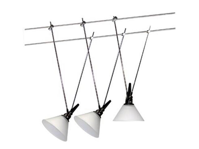 System linkowy Glas 60 chrom satynowy 3x20W Paulmann