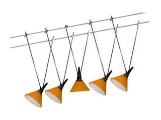 System linkowy Glas 100 5x20W pomarańczowe szkło Paulmann