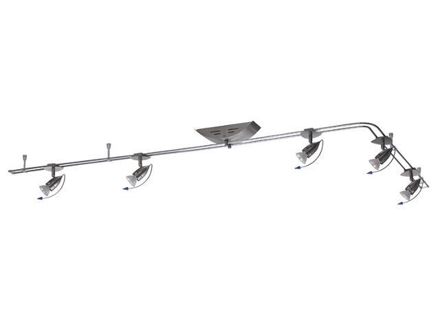 Kompletny system prętowy Hip 5x20W GU5,3 żelazo satyna Paulmann
