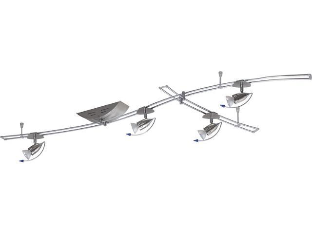Kompletny system prętowy HipHop 5x20W GU5,3 żelazo satyna Paulmann