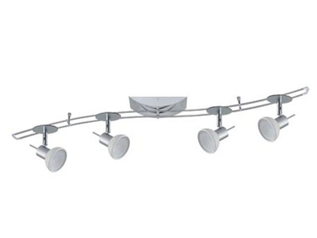 Kompletny system prętowy S14 Sheela 4x35W GU5,3 chrom opal Paulmann