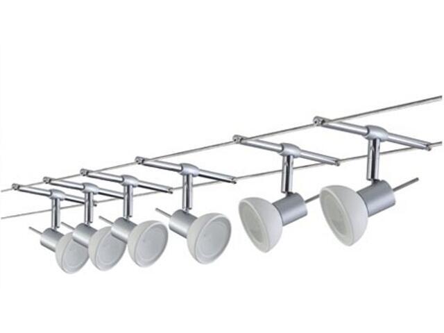 System linkowy Sheela 6x35W GU5,3 chrom mat biały Paulmann