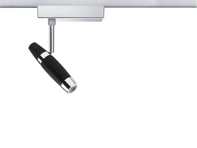 Oprawa do systemów szynowych Channel LED spot 1x10W czarna chrom Paulmann
