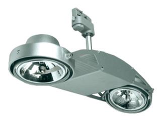 Oprawa do systemów szynowych FUSIO S32H G53 2x50W srebrna Brilum