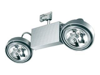 Oprawa do systemów szynowych FUSIO S52H G53 2x50W srebrna Brilum