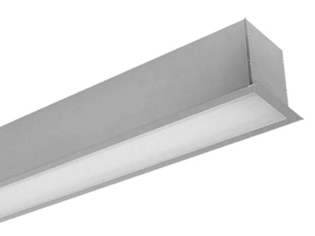 System świetlówkowy PREVIA TOP 214DE do wbudowania 2x14W szary Elgo
