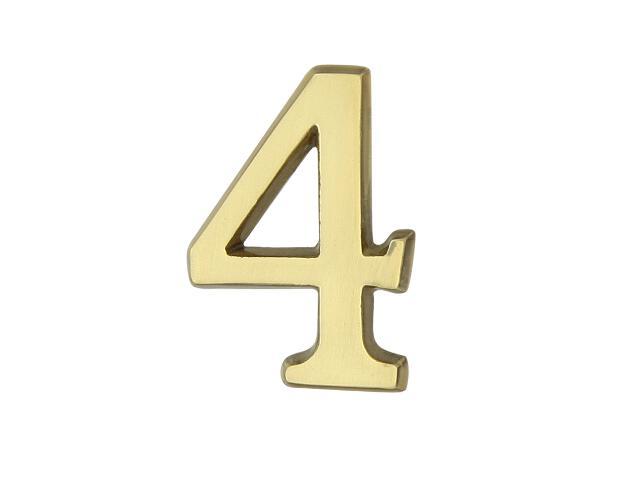 """Cyfra """"4"""" złota 50mm Domino"""