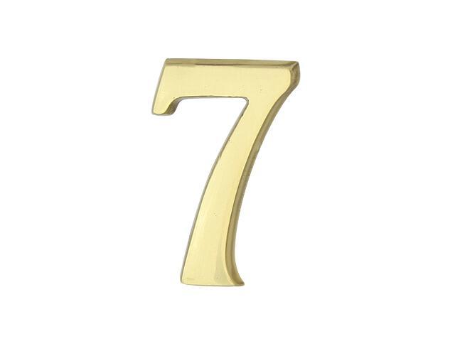 """Cyfra """"7"""" złota 50mm Domino"""
