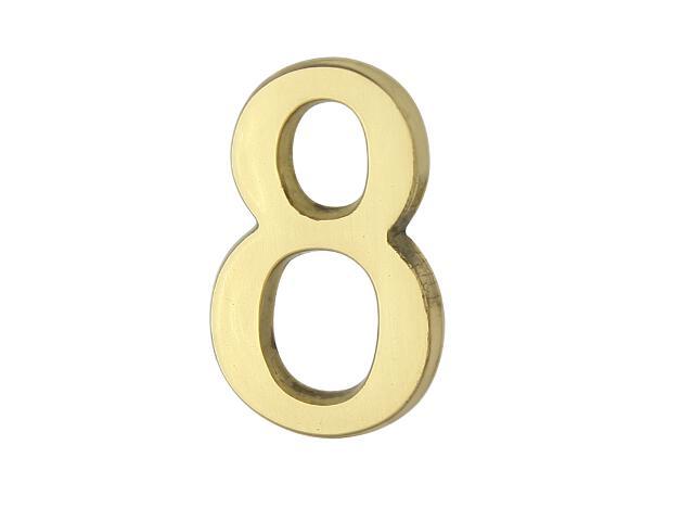 """Cyfra """"8"""" złota 50mm Domino"""