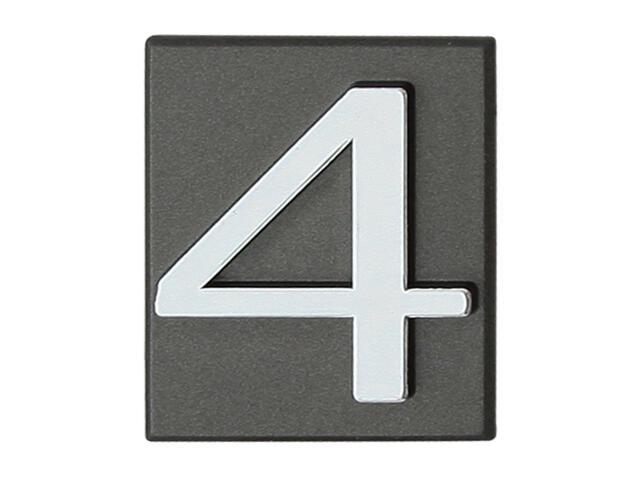 "Cyfra ""4"" grafit 40x45mm Domino"