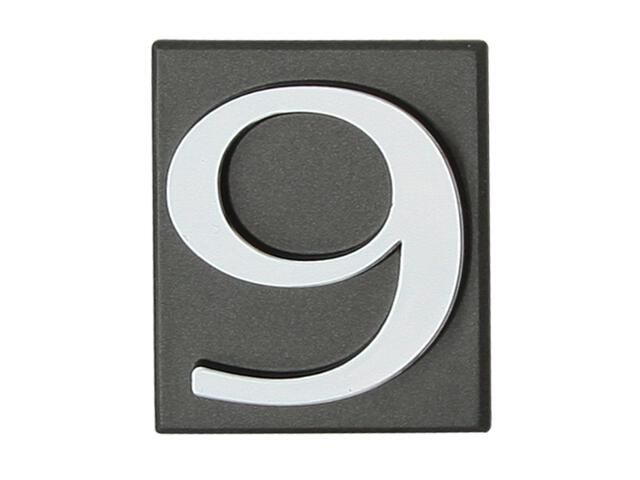 "Cyfra ""9"" grafit 40x45mm Domino"
