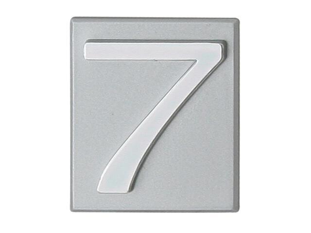 """Cyfra """"7"""" srebrna 40x45mm Domino"""
