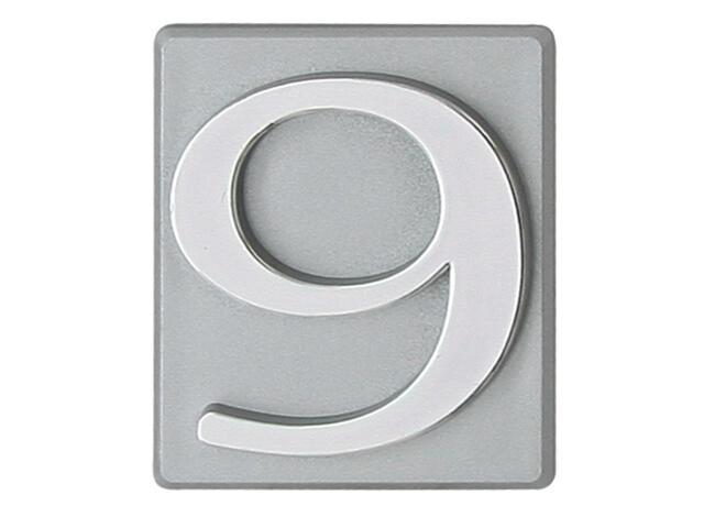 """Cyfra """"9"""" srebrna 40x45mm Domino"""