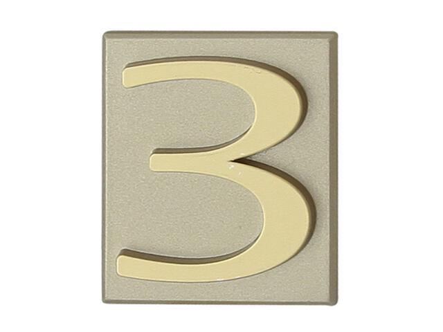 "Cyfra ""3"" oliwka 40x45mm Domino"