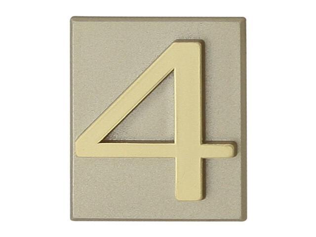 "Cyfra ""4"" oliwka 40x45mm Domino"