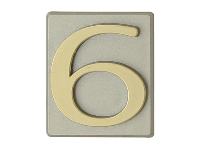"Cyfra ""6"" oliwka 40x45mm Domino"
