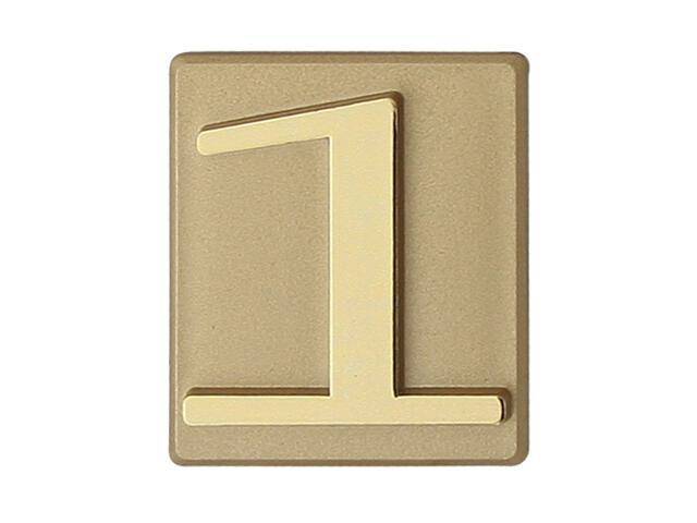 """Cyfra """"1"""" złota 40x45mm Domino"""