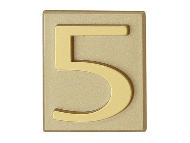 """Cyfra """"5"""" złota 40x45mm Domino"""