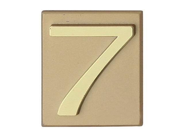 """Cyfra """"7"""" złota 40x45mm Domino"""