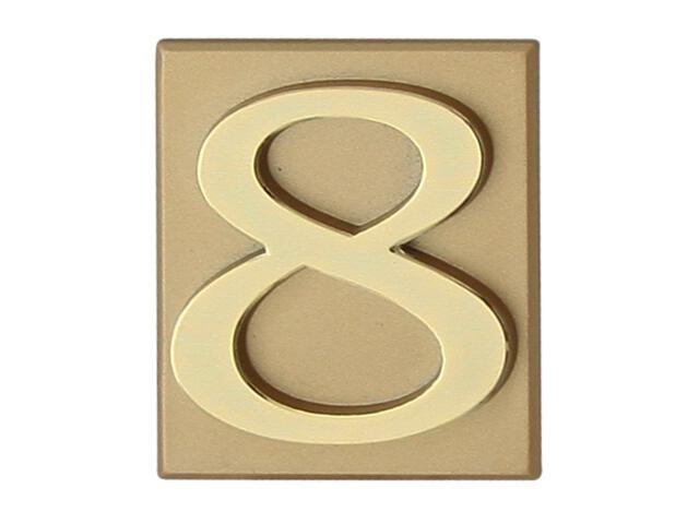 """Cyfra """"8"""" złota 40x45mm Domino"""