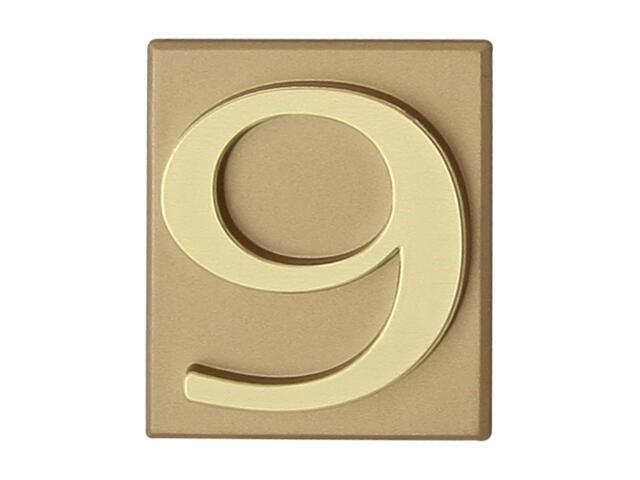 """Cyfra """"9"""" złota 40x45mm Domino"""