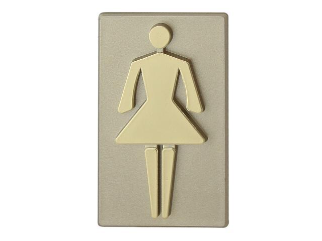 """Oznaczenie WC oliwka """"kobieta"""" 45x50mm Domino"""