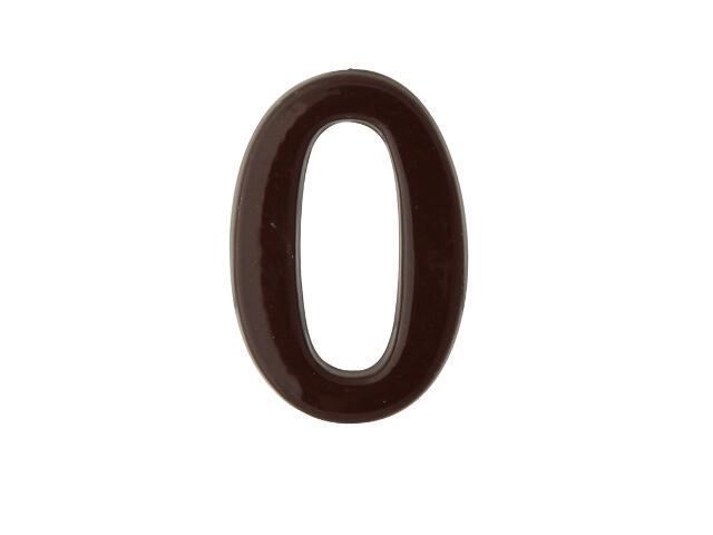 """Cyfra """"0"""" brąz 50mm Domino"""