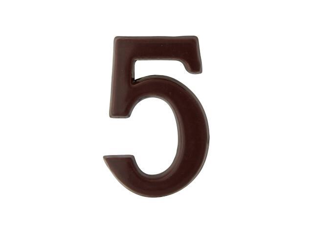 """Cyfra """"5"""" brąz 50mm Domino"""