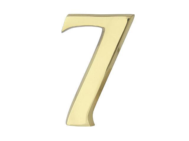"""Cyfra """"7"""" mosiądz 20cm Domino"""