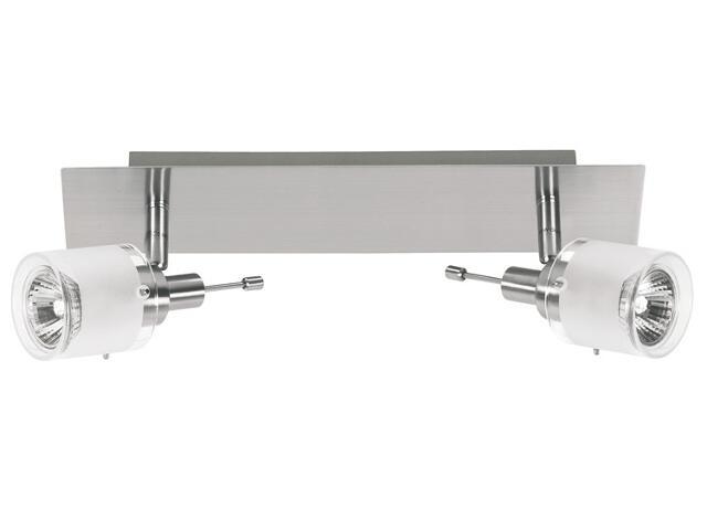 Lampa sufitowa listwa 2x50W GU10 nikiel szkło Paulmann