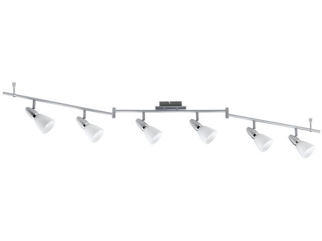 Lampa sufitowa listwa B10 6x7W E14 230V chrom mat szkło Paulmann