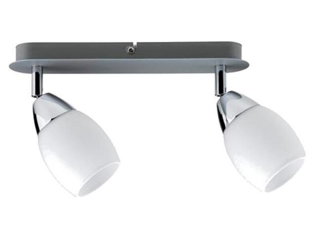 Lampa sufitowa Wolba 2x7W GU10 230V chrom metal szkło Paulmann