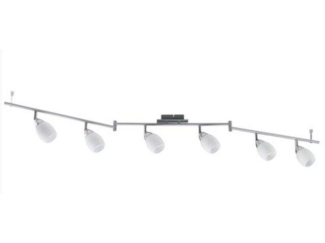 Lampa sufitowa Wolba 6x7W GU10 230V chrom metal szkło Paulmann