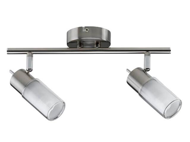 Lampa sufitowa Zygla 2x7W GU10 230V żelazo satynowe metal szkło Paulmann