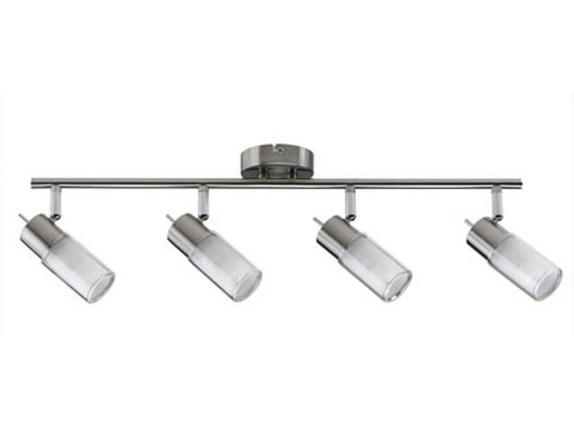 Lampa sufitowa Zygla listwa 4x7W GU10 230V żelazo satynowe metal szkło Paulmann